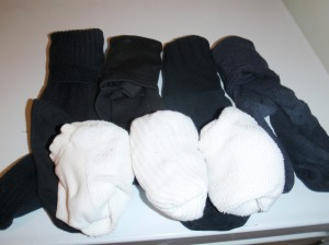 socks organized